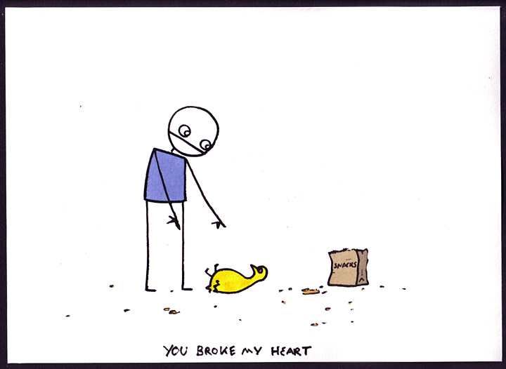 you broke: